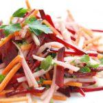 Овощной салат из капусты, моркови и свеклы